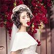 城市花园婚纱摄影化妆师:打造清新别致的新娘发型