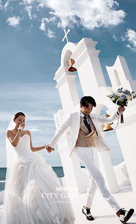圣托里尼婚纱照